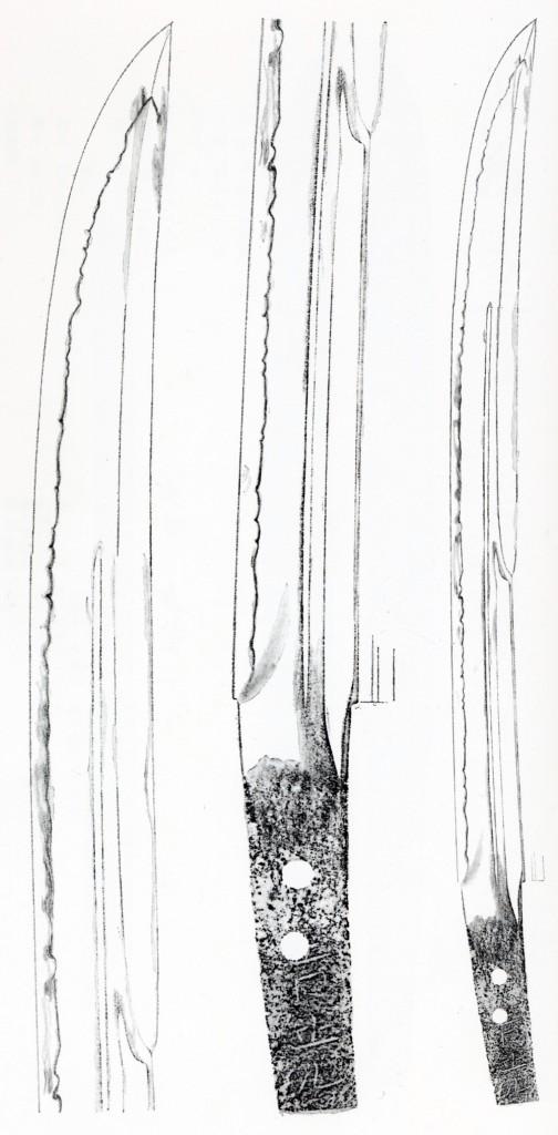 鯰尾藤四郎-押形
