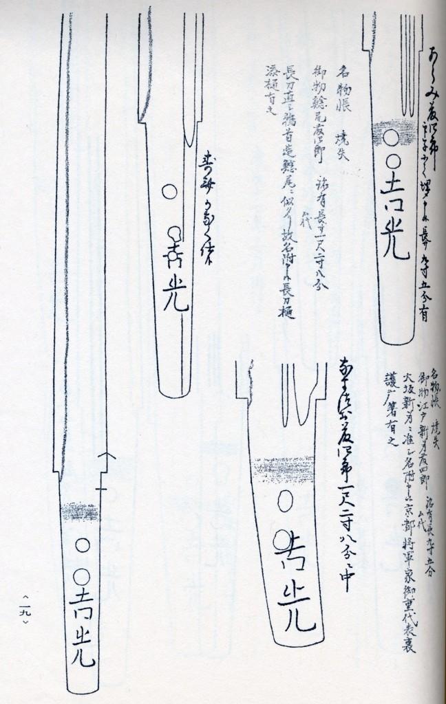 鯰尾藤四郎-埋忠押形