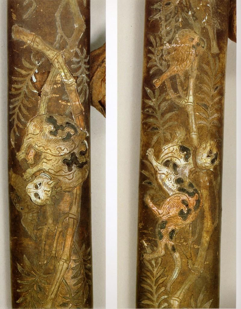 金地螺鈿毛抜形太刀-画像2